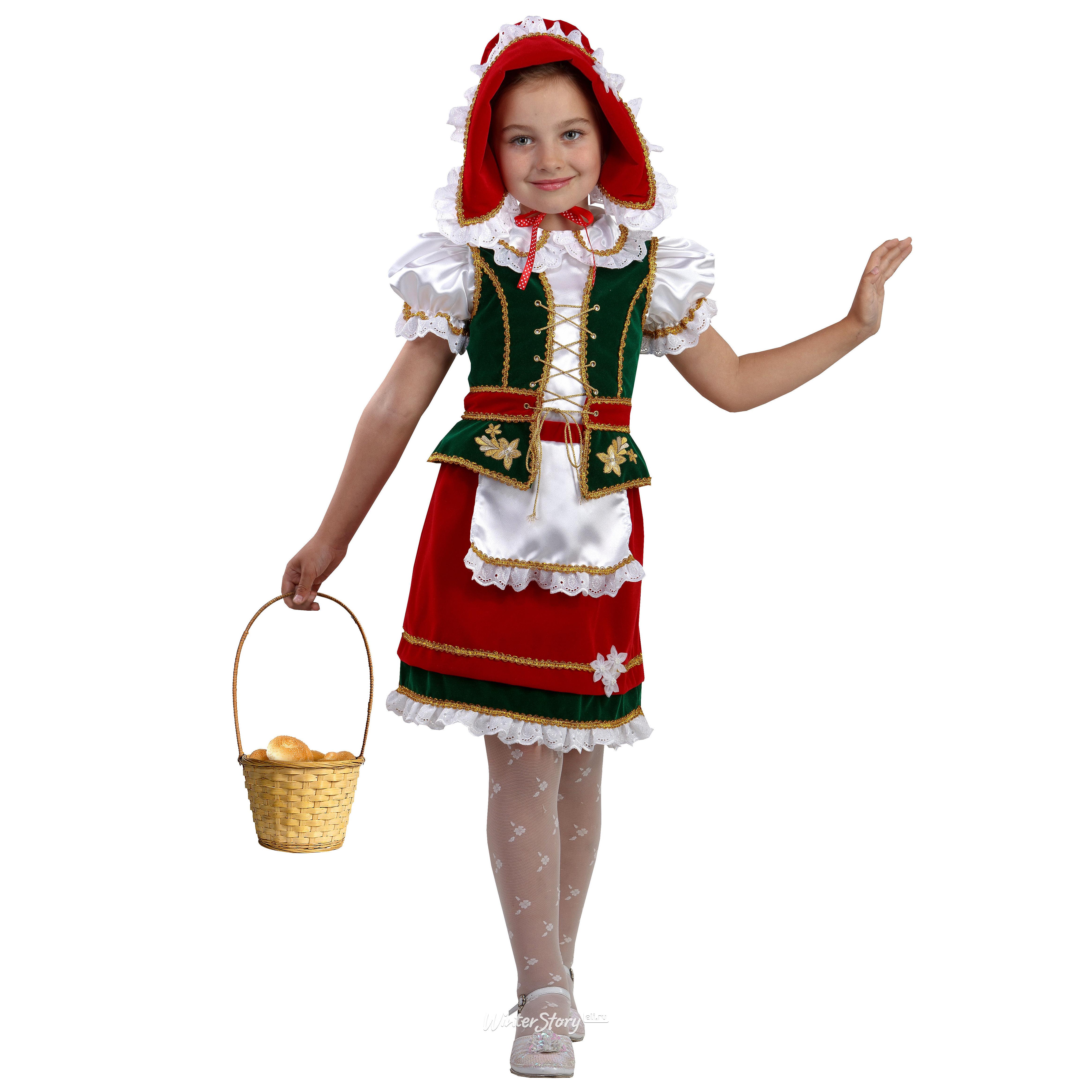 116Костюм красная шапочка ребенку