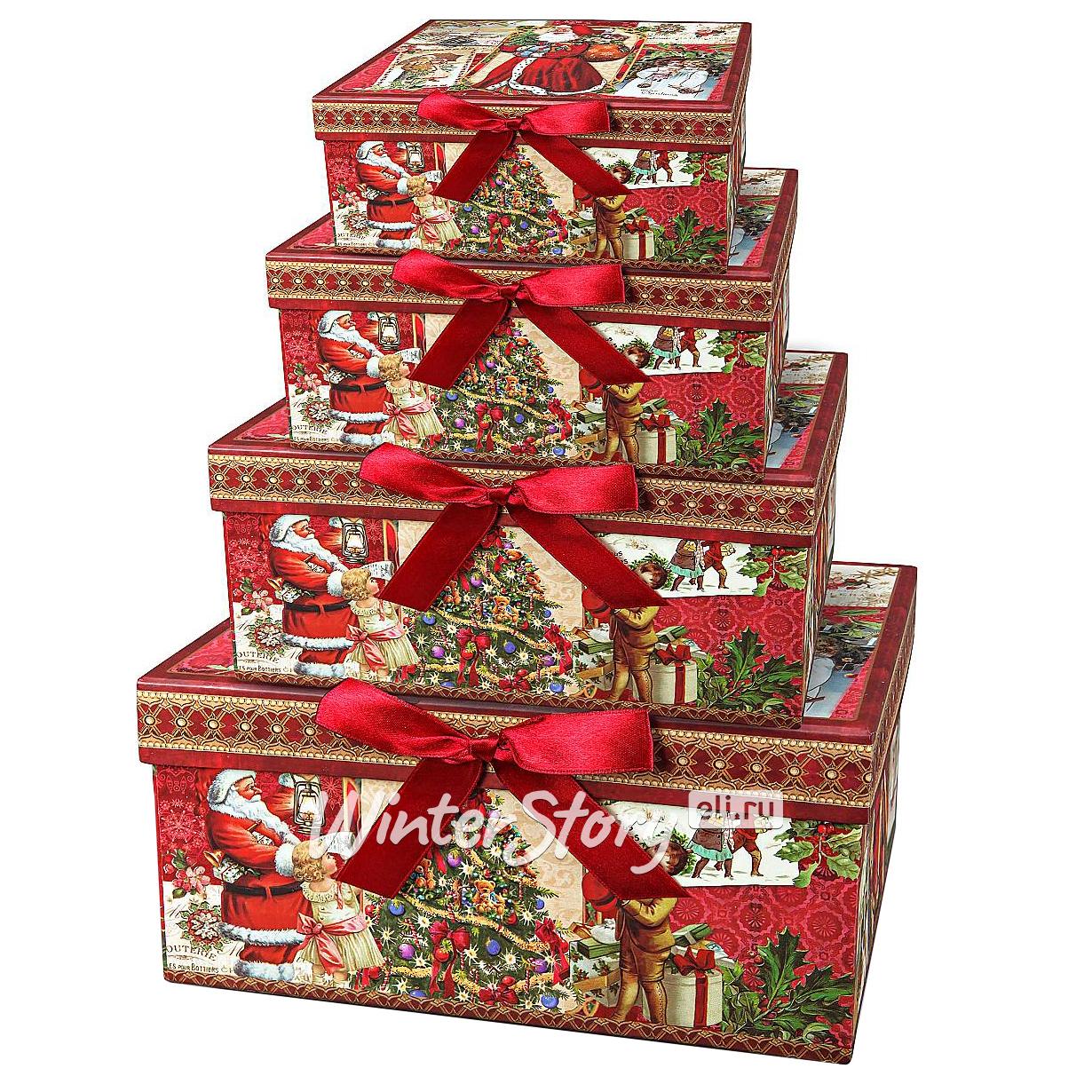 Коробка для новогодних подарков 86