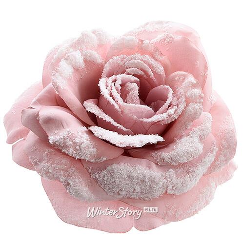bccb5a012de4 Роза Заснеженная 12 см розовая, клипса, Kaemingk