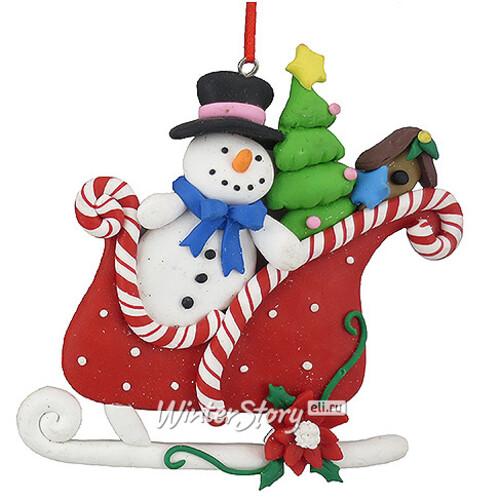 Снеговик в санях