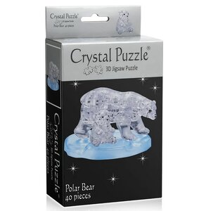 3D пазл Два белых медведя, 40 элементов Crystal Puzzle фото 2